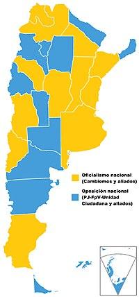 Resultados electorales del 23 de octubre de 2017 en Argentina | Imagen: Wikicommons